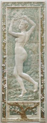 """Panneau bas-relief : """"le printemps"""""""